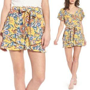 BP Ruffle Floral Shorts